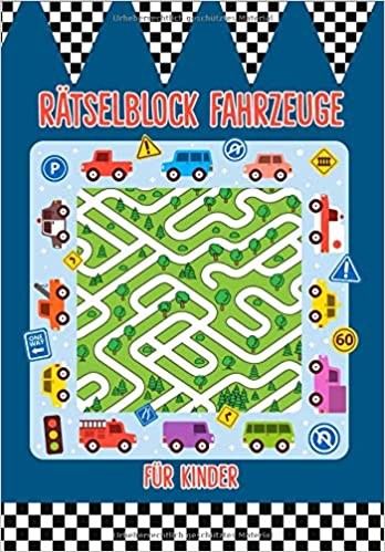Ratselblock Fur Kinder Fahrzeuge Das Ratselbuch Mit Logikratsel