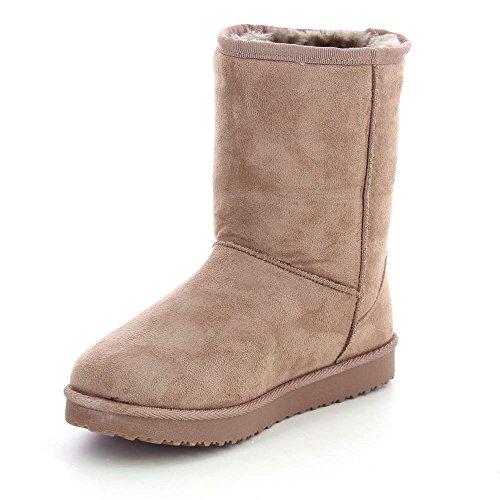 Bottines style boots intérieur fourré - 40Beige