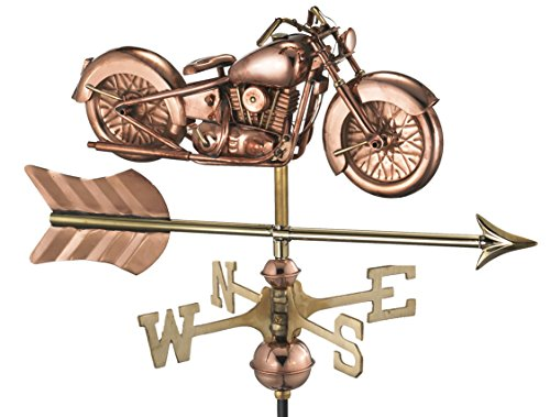 Good Directions Motorcycle with Arrow Garden Weathervane by Good Directions