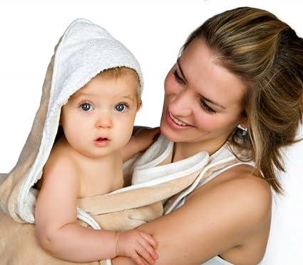 The Original Cuddledry Hands Free Baby Apron Bath Towel (Grey Star)