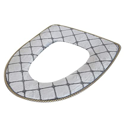 Phenomenal Toilet Seat Covers Soft Toilet Seat Cushion Thicken Toilet Seats Covers Flannel Toilet Seat Cushion Mat Bathroom Accessories Color Gray Ncnpc Chair Design For Home Ncnpcorg