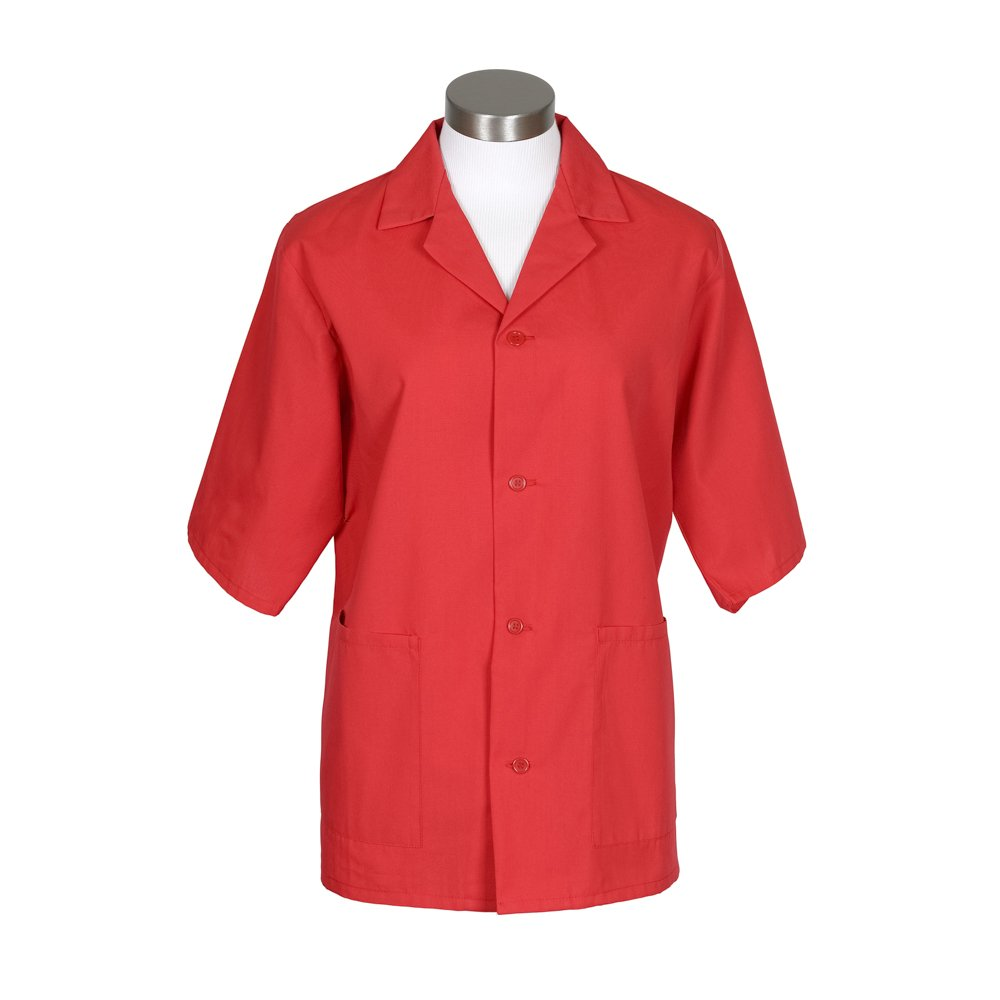 Fame Adult's UniSex Smock -Red-XL