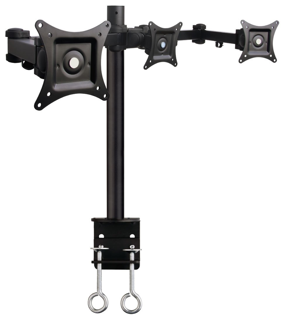 Amazon com vivo triple lcd monitor desk mount stand heavy duty fully - Amazon Com Vivo Triple Lcd Monitor Desk Mount Stand Heavy Duty Fully Adjustable Fits 3 Three Screens Up To 24 Stand V003 Computers Accessories