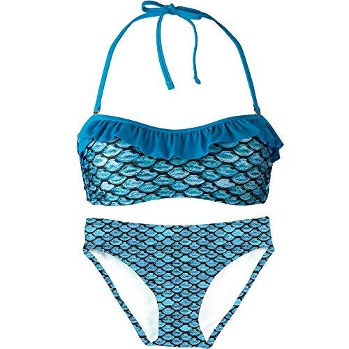 Bandeau Bikini Set, Tidal Teal Top, Tidal Teal Bottom, Women's X-Small