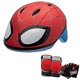Marvel Spiderman Toddler Skate / Bike Helmet Pads & Gloves - 7 Piece Set