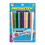 Mr. Sketch Scented Stix Watercolor Markers, 10 Colored Markers(3610), Office Central