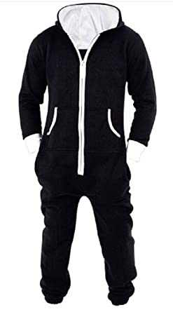 Nicetage Unisex-Adult Hooded Onesie Jumpsuit Printed Christmas Romper  Overall Zip up Playsuit 1a0305a55