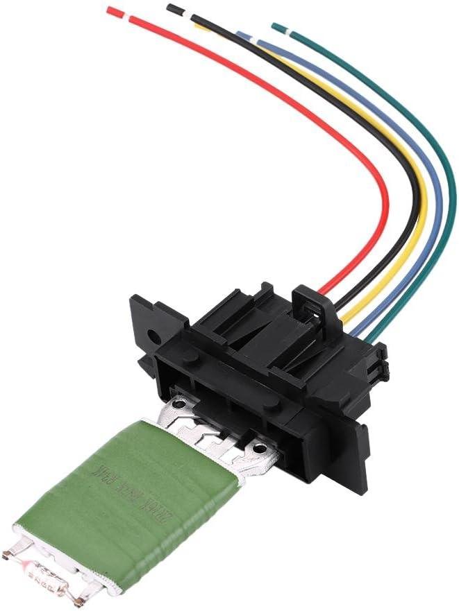 Resistenza motore ventilatore Resistenza motore riscaldamento Resistenza ventilatore ventilatore con cablaggio spina riparazione cablaggio compatibile con Fiat Grande Punto Qubo