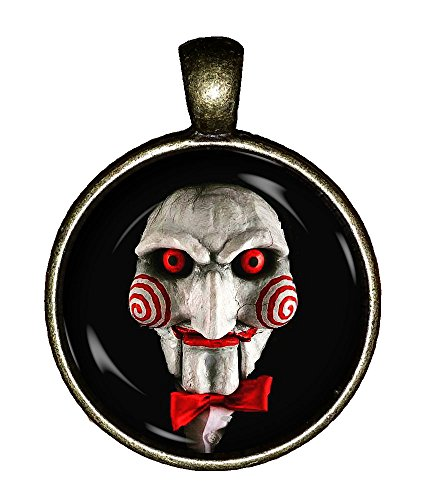Jigsaw necklace handmade SAW horror movie doll Jewelry Pendant Charm Gifts