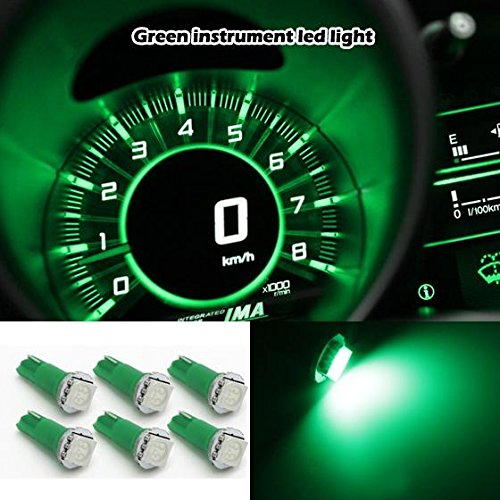 Partsam 10xT5 Wedge 1-5050-SMD Green 37 70 73 74 Speedometer Odometer Tachometer Instrument Panel Gauge LED Light (1993 Jeep Grand Cherokee Speedometer Not Working)