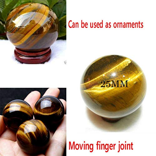 BBtime 2019 Natural Tiger Eye Stone Dark Asian Rare Tiger Eye Quartz Crystal Healing Ball Sphere Yellow Eye Toy 2.5mm