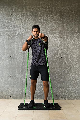 BodyBoss Home Gym 2.0 - Full Portable Gym Home Workout Package, Includes 1 Set of Resistance Bands (2) - Collapsible Resistance Bar, 2 Handles + More - Full Body Workouts for Home, Travel or Outside by BodyBoss (Image #6)