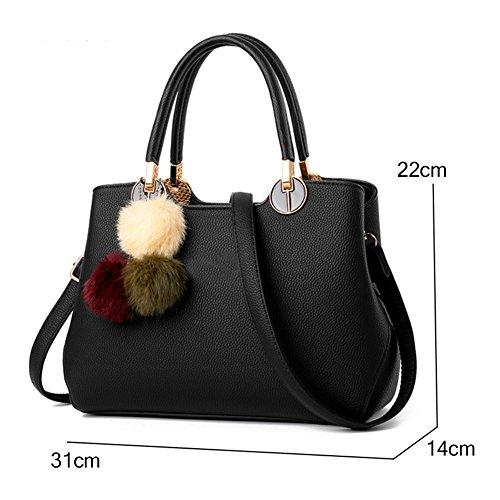 Hobo Pu Shoulder Tracolla nero Donna Nclon Pelle Maniglia Handbag A Army Manico Superiore Progettazione Green Bag Superiore Con Elegante Borsa Borse qSSvfO5w