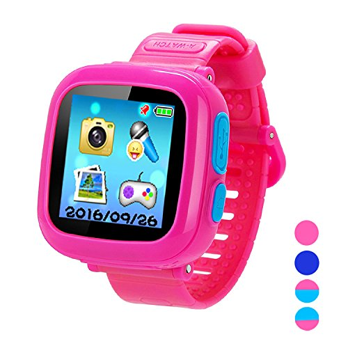Smart Watch for Kids Girls Boys,Smart Game Watch with Camera Touch Screen Pedometer,Kids Smart Watch Perfect Holiday Birthday Toys Gifts (Pink) by MIMLI