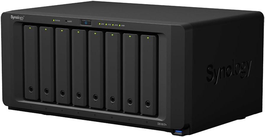 Synology DS1817+ NAS Escritorio Ethernet Negro - Unidad Raid (Unidad de Disco Duro, SSD, M.2, SATA, 2.5/3.5