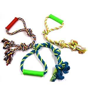 Pet Supplies : EXPAWLORER Tough Dog Rope Chew Toys 3 Pcs