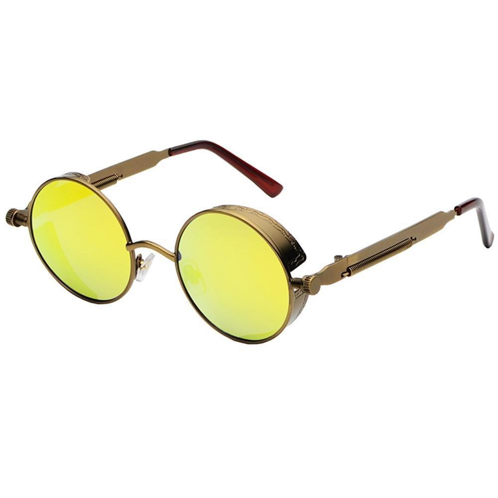 Aoligei Dampf-Alter Punk Sonnenbrille Europäische und amerikanische Persönlichkeit Frame Circular Polfilter ANTI-UV yTPhZjWncI