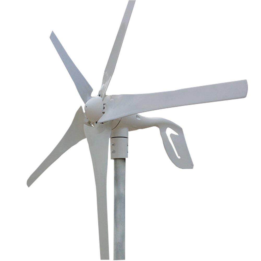 400W Wind TurbineWind/Turbine Generator & Waterproof Wind Controller 12V/24V 5 Blades Low Wind Speed Starting Top Rated NSK Bearings Garden Street Lights Wind Turbines (12V)