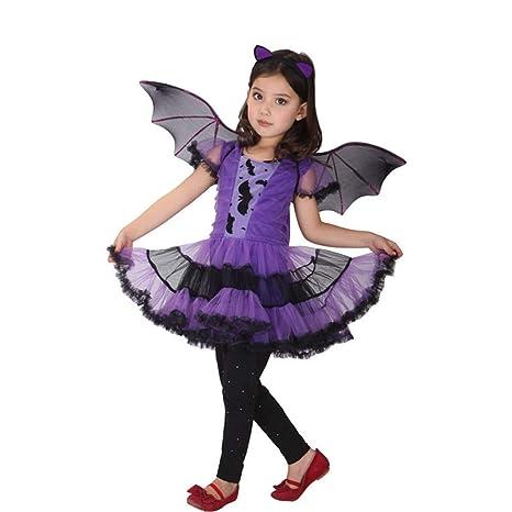HS-ZM-06 Disfraz De Bruja Falda Niña Falda 2-15Y Halloween ...