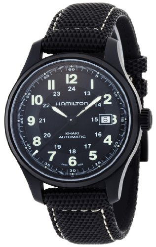 Watch Hamilton Field (Hamilton Men's HML-H70575733 Khaki Field Black Dial Watch)
