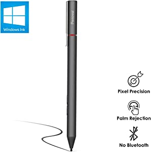 Penoval Pen for Surface, Microsoft Certified, 4096 Pressure Sensitivity, Aluminium Body, for Microsoft New Surface Pro 3/4/5/6/Go, Surface Book, Surface Laptop/Studio and More (4A Battery & 2 Nibs)