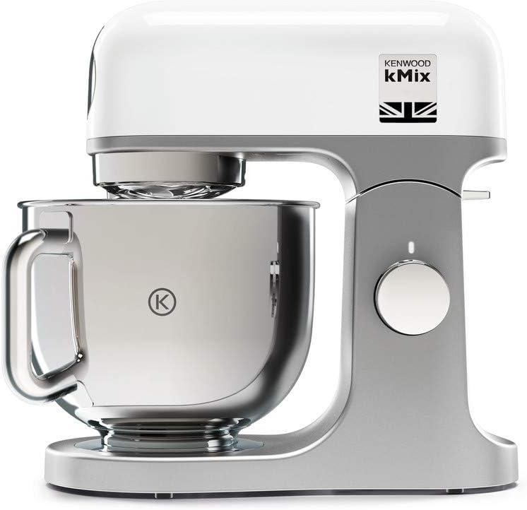 Kenwood kMix KMX750WH - Robot de cocina multifunción, 1000 W, bol metálico de 5 L con asa, gancho para amasar, varillas, mezclado K, Aacero inoxidable, 6 velocidades, color blanco: Amazon.es: Hogar
