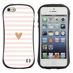 Suave TPU GEL Carcasa Funda Silicona Blando Estuche Caso de protección (para) Apple Iphone 5 / 5S / CECELL Phone case / / Heart Pink White Love Minimalist Lines /
