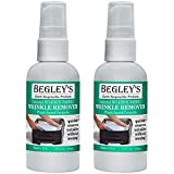 Begley's Best Earth Responsible Natural No-Iron Fabric Wrinkle Release, Static Cling Remover, Plant-Based Formula, Refreshing Citrus Scent - USDA Certified Biobased Product, 3 oz Travel Size, 2-Pack