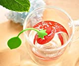 Silicone Tea Infuser Stawberry Shape Size L19.5 x W 5.5 cm