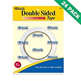 Double Sided Sticky Tape, Bazic Best Permanent Double-sided Tape For Crafting