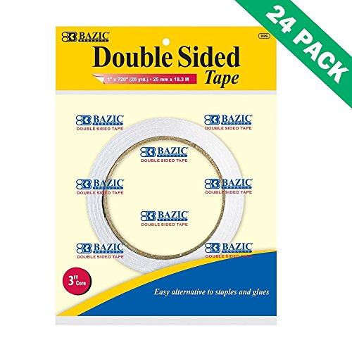 Double Sided Sticky Tape, Bazic Best Permanent Double-sided Tape For Crafting by Bazic-Products