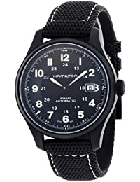 Men's HML-H70575733 Khaki Field Black Dial Watch