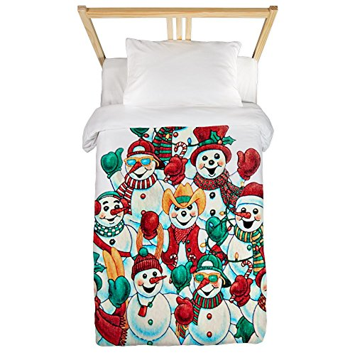 Twin Duvet Cover Christmas Stacked Frosty Snowmen