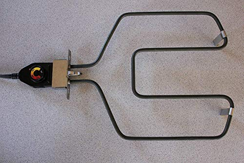 River Country Universal Replacement Electric Smoker and Grill Heating Element with Adjustable Thermostat ControllerNEW 1500 Watts Higher Heat