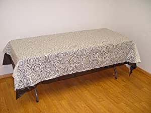 rectangular white lace plastic table cover
