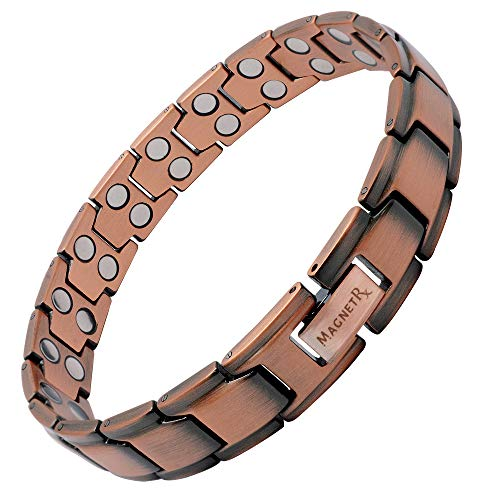 MagnetRX Pure Copper Magnetic Therapy Bracelet Ultra Strength Double Magnet Pain Relief for Arthritis and Carpal Tunnel