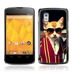 YOYOSHOP [Funny Badass Kitty Cat] LG Google Nexus 4 Case