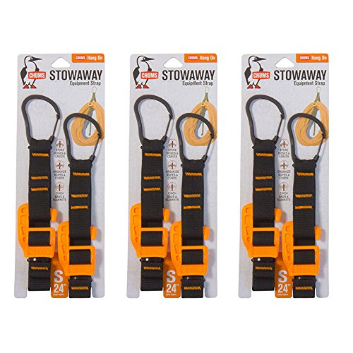 Chums 99532 StowAway Equipment Strap, Water and UV Resistant, Small, Black/EV Neon Orange (Pack of - Orange Ev