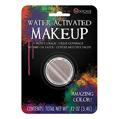 Woochie Water Activated Makeup - Professional Quality Halloween and Costume Makeup - (Deadguy Grey, 0.1 oz) -