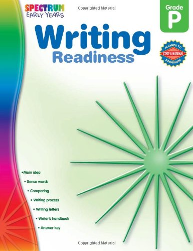 Writing Readiness, Grade PK (Early Years)