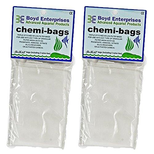 Boyd Enterprises ABE16720 2-Pack Chemi-Bags with Ties for Aquarium