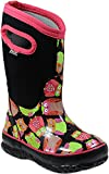 Bogs Kids' Classic High Waterproof Insulated Rubber Neoprene Rain Snow Boot, Owl Print/Black/Multi, 10 M US Toddler