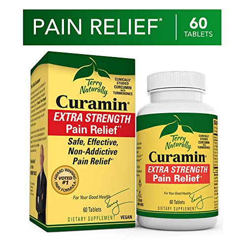 Terry Naturally, Curamin Extra Strength, 60 Tablets (Best Pain Pill For Toothache)