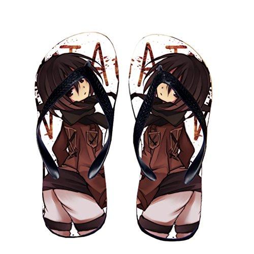 Bromeo Attack on Titan Anime Unisex Flip Flops Chanclas 179