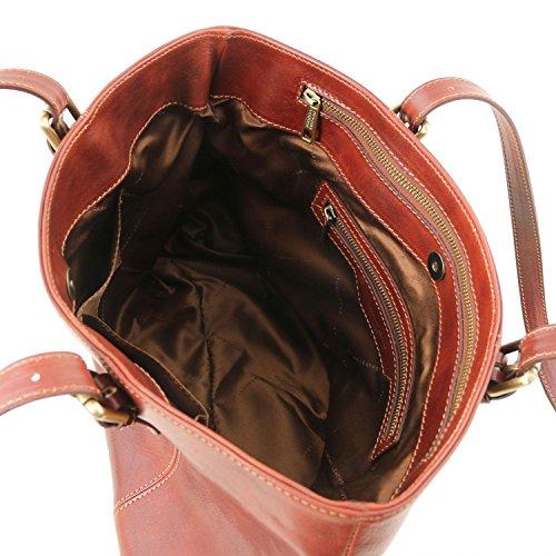 Tuscany Leather Annalisa Borsa shopping in pelle con due manici - TL141710 (Marrone) marrone