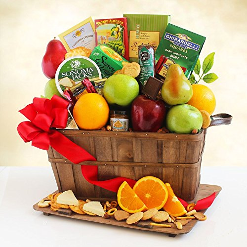 Fresh Fruit Holiday Greetings Gift Basket by The Gift Basket Gallery