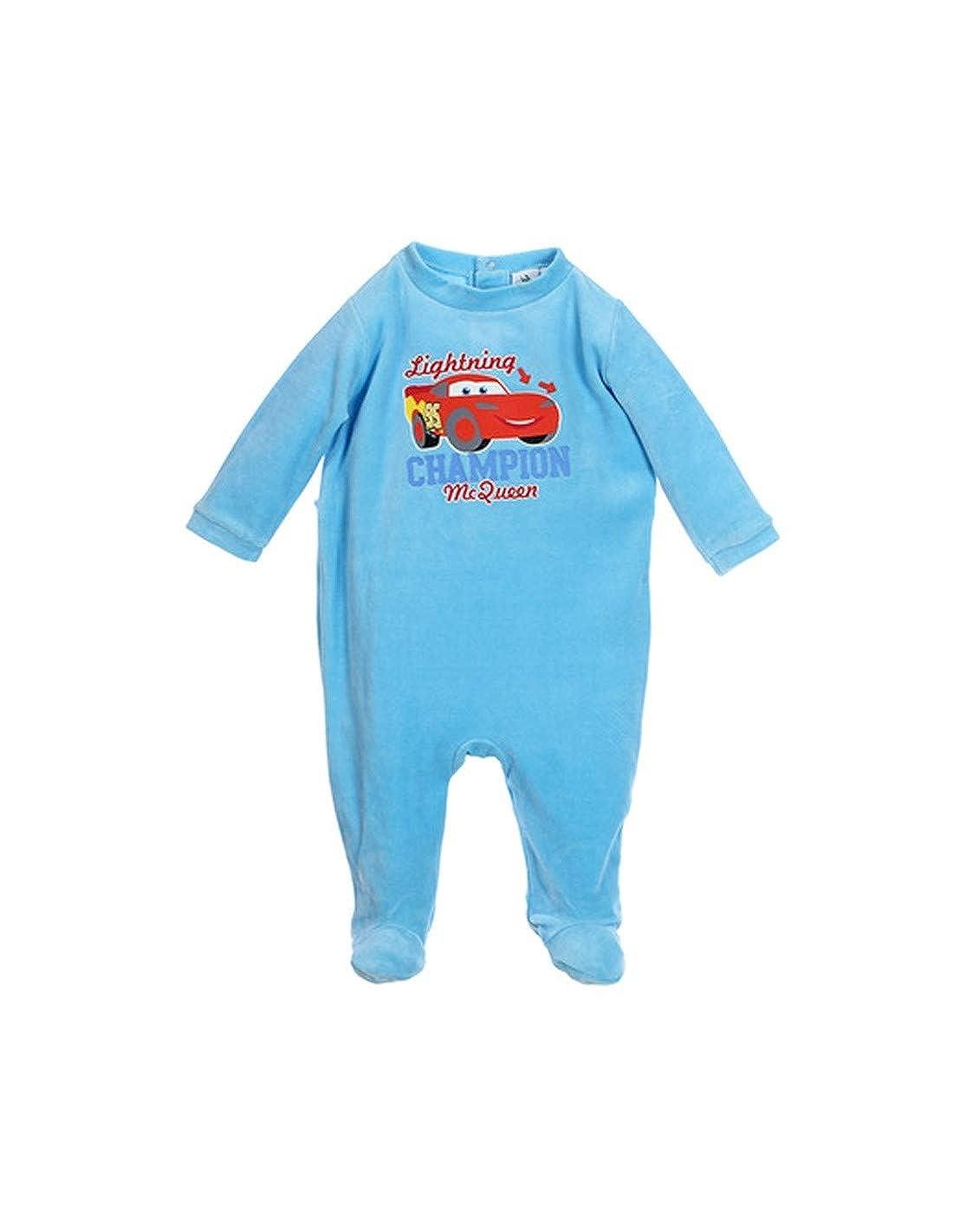 Pyjama Velours bébé garçon Cars Disney Champion Bleu de 3 à 23mois Flash Mc Queen DBV-BG-CAR-OE0340