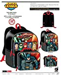 Justice League Batman Superman Flash Boys Kids School Backpack Bookbag Combo Set