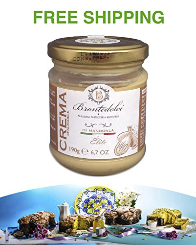 Almond sweet Cream with 40% nuts from Brontedolci (Etna) 190 g, Brontedolci / Italy - Sweet Cream Almonds