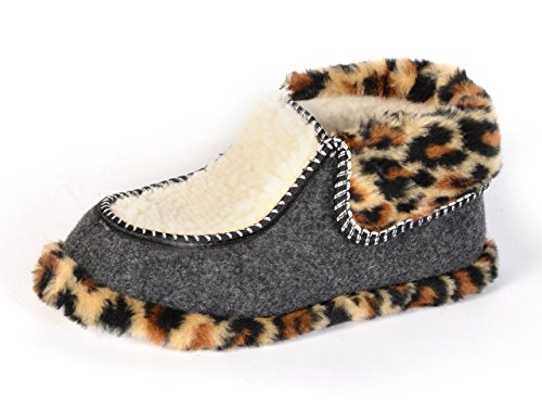 Original Women's, Damen Hausschuhe, Pantoffeln Set aus Filz mit Sheepwool-Futter, Warm und gemütlich